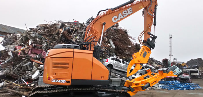 CASE CX245DSR short reach excavator delivers sustainable recycling solution